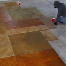 Home-Dzine - How to paint concrete floors. Turn those boring concrete floors into something fabulous!