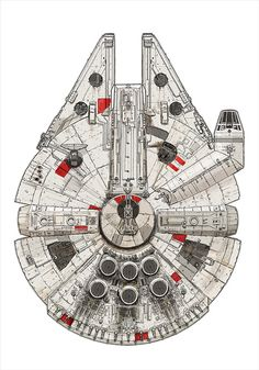 Millennium Falcon – Pirate Ship by David Kennad