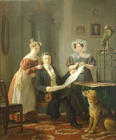 1829 Martinus Rørbye - The Surgeon with Wife and Daughter