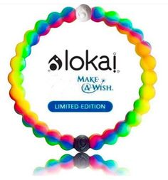 Limited edition neon lokai bracelet. For every bracelet bought live lokai will donate $1 to make a wish foundation!