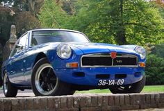 MG MGB GT V8 1976 - color Tahiti Blue - tuned V8 engine - Import United Kingdom (1996 - OGH 105P) #MG #MGB