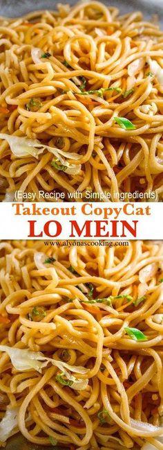 Lo Mein (copycat to go) - lo-mein-copycat-takeout-recipe-simple-lo-m . - Lo Mein (copycat to take away) – lo-mein-copycat-takeout-recipe-simply-lo-mein-alyonascooking-lo- - Yummy Recipes, Copycat Recipes, Dinner Recipes, Cooking Recipes, Yummy Food, Healthy Recipes, Healthy Lo Mein Recipe, Healthy Food, The Best Lo Mein Recipe