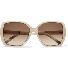 ee12727aaadd Chloé - Square-frame Acetate Sunglasses ( 121) ❤ liked on Polyvore  featuring accessories