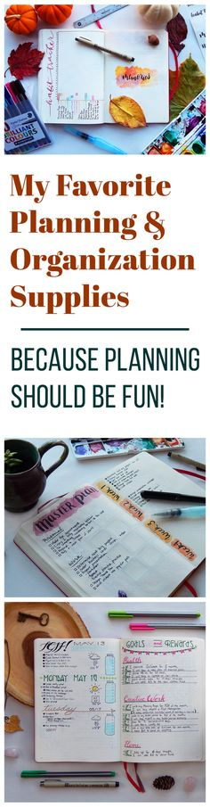 I have made my life more organized and fulfilled because of good planning, and I used a lot of different supplies to make it happen. Planning shouldn't be some boring thing you have to force yourself to do. It should be enjoyable! So take a look at the bullet journal supplies that make my planning experience fun, beautiful, and successful!
