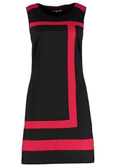 Robe en jersey - black/red