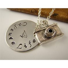 Camera Pendant Necklace, Camera Charm, Photographer Gift, Photography,... ($42) ❤ liked on Polyvore