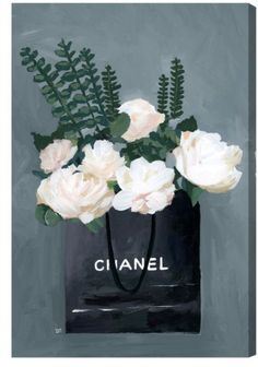 chanel, canvas art, wall art, frame art