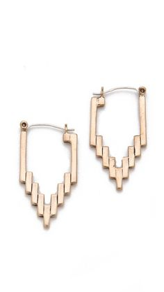 selected by http://jamesdrygoods.com for the made in america: contemporary project | #madeinusa | Pamela Love Empire Hoop Earrings