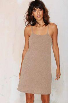 Ryan Ribbed Mini Dress - Mocha - Dresses