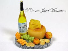 OOAK ARTIST 112 Peach Pear Cheddar Grape by CrownJewelMiniatures, $25.99