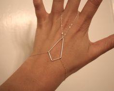 pieza de mano de forma de diamante plata