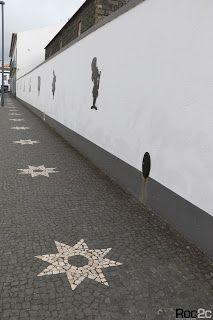 calçada portuguesa, desenhos, simetrias, Furnas, Ilha São Miguel, pedra vulcânica, Ribeira Grande, Açores, calçada artística, Alice País Maravilhas