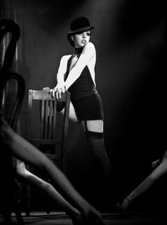 Liza Minelli, playing Sally Bowles: Cabaret. Directed by Bob Fosse (1972).