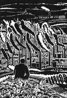 Frans Masereel, The City, 1925 — woodcut Woodcut Art, Linocut Prints, Art Prints, Arte Popular, Lira Popular, Industrial Artwork, Environment Painting, Art For Art Sake, Tampons