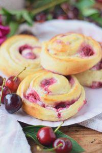 Kirsch Cheesecake Schnecken #kirschen #kirschkuchen #ichbacksmir