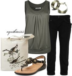 """Simple Summer Outfit"" by cynthia335 ❤ liked on Polyvore"