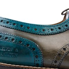 Derby Schuhe Marvin 1 Crust Turquoise Light Grey LS