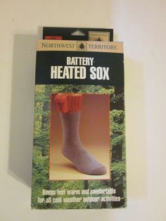 Battery Heated Sox Socks Northwest Territory Mens Medium 9 - 10.5 Hunting #NorthwestTerritory
