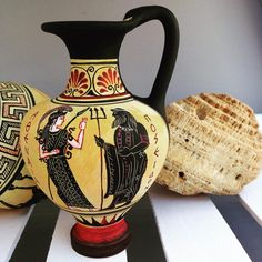 Some new vases!  Discover the world of ancient Greek art with wonderful handmade ceramics www.etsy.com/shop/AcropolisGallery