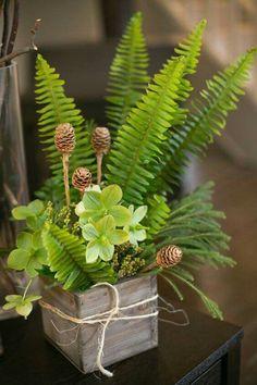 Simple green floral arrangement