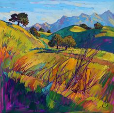 San Luis Obispo wine country original oil painting by Erin Hanson