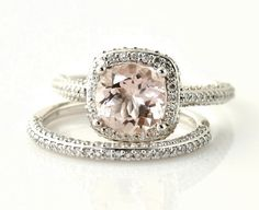 YES YES YES pale pink engagement ring