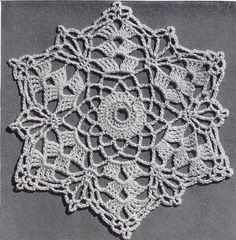 Sea Shell Delicacy Vintage Crochet Bedspread Pattern in Shell Stitch PDF, c. 1941