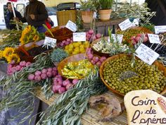 Olives in the Lourmarin Market, Luberon, Provence, France