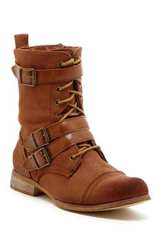 Image of Bucco Mesa Buckle & Lace-Up Boot