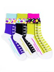 Zany High Top Ankle Socks