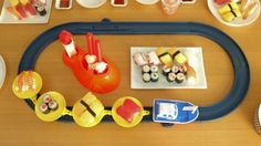 What kid wouldn't love this at home conveyor sushi?