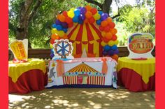 Circus Decorations | Carnival Decorations at a party in Miami