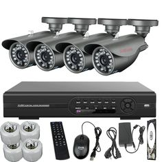 Cheap system integrated, Buy Quality camera de surveillance sony directly from China camera cleaner Suppliers:  SUNCHAN 8CH 720TVL 1/3'' CMOS Day/Night Vision CCTV Camera DVR Kit Security Camera Easy DIY Hom
