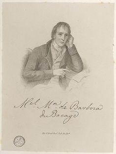 Bocage (1765-1805) Retrato gravado a buril e água-forte por Joaquim Pedro de Sousa