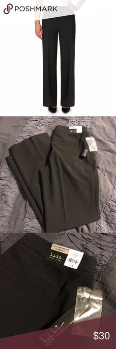 Nicole Miller Black Dress Pants Brand new with tags. Too small for me. Size 8! Nicole Miller black work pants . Perfect for work! The modern fit of these dress pants make them a must have style for all the right reasons. flat lay waist: 15in , rise: 12.5in , inseam: 32in. nicole miller essential easy care pant. Nicole Miller Pants Boot Cut & Flare