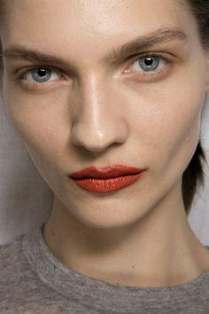 Acne Studios Bks Tris at Paris Fall 2015. http://votetrends.com/polls/369/share #makeup #beauty #runway #backstage