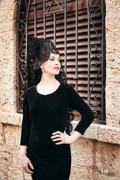 Sesión de fotos Hécate peluquerías, la mantilla española en Semana Santa. Fotografía Rubén López, modelo Eva María Salcedo