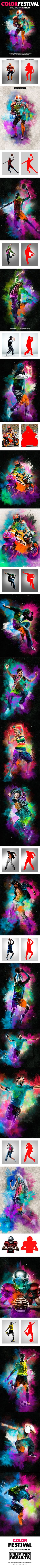 Color Festival Photoshop Action  Dust Effect — Photoshop ATN #action • Download ➝ https://graphicriver.net/item/color-festival-photoshop-action-dust-effect/19250033?ref=pxcr