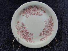 Caribe China Red Floral Pattern Vintage Restaurant Ware Bread Plate #ShenangoChina