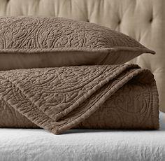 Vintage washed belgian linen quilt shams in dune from vintage washed belgian linen quilt sham publicscrutiny Images