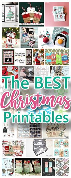 The BEST Christmas and Holiday FREE Printables - Gift Tags - Gift Card Holders - Christmas Greeting Cards and more FREE Downloadable Printables for the Holiday Seasons   Dreaming in DIY