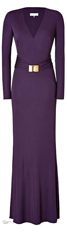 Emilio Pucci Belted Evening Gown in Purple  jaglady I would hit the gym to wear this gown.