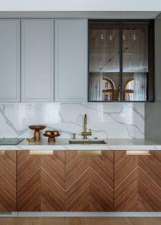 Kitchen Room Design, Modern Kitchen Design, Home Decor Kitchen, Interior Design Kitchen, Kitchen Furniture, Home Kitchens, Modern Kitchens, Kitchen Ideas, Modern Kitchen Backsplash