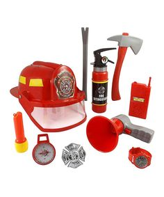 Take a look at this Fireman Gear 10-Piece Play Set today!