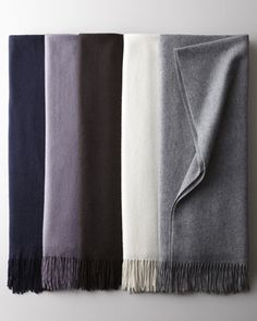 Woven Cashmere Throws at Neiman Marcus.