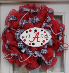 Alabama+Wreath+Football+Wreath+Mesh+Wreath+by+HolidaysAreSpecial,+$65.00