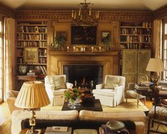 It looks very inviting, doesn't it? I would like to be sitting by that fire right now. via