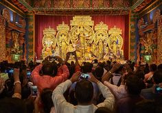 One of the thjngs I was fascinated with while at #durgapuja2019 was the ritual of photographing the pandal  I'm not sure what everyone does with all these photos, heck I barely know what to do with them. But everyone without fail felt compelled to document #gottacatchemall #kolkata #durgapuja #winnipegphotographer Durga Puja Kolkata, Last Night, Instagram Feed, Crowd, Felt, Painting, Photos, Felting, Pictures