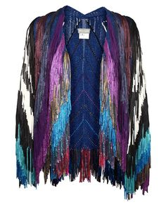 Shop for TIM RYAN Full hand-fringed knit jacket at ShopStyle. Fringe Coats, Fringe Jacket, Knit Jacket, Fringe Kimono, Kimono Jacket, Fashion Details, Fashion Design, Fashion Trends, Brown Fashion