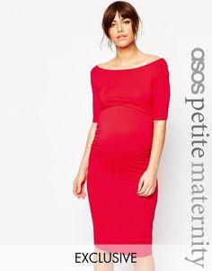 ASOS Maternity PETITE Bardot Dress With Half Sleeve at asos.com. Tehotenské  ŠatyTetovania ... 18f86780773